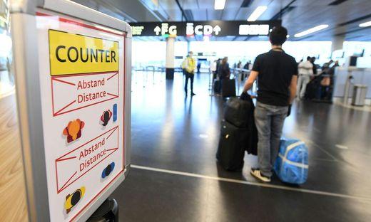 CORONAVIRUS Flughafen Wien-Schwechat Kontrolle