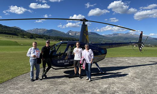 Helikopterflug mit Thomas Morgenstern