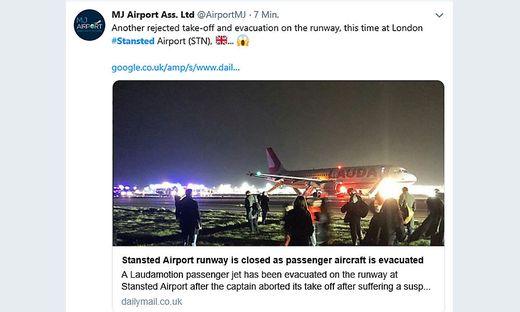 Der Airbus konnte wegen eines Triebwerksausfalles nicht starten