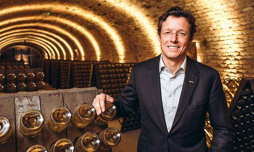 Schlumberger-Geschäftsführer Benedikt Zacherl in der Kellerei