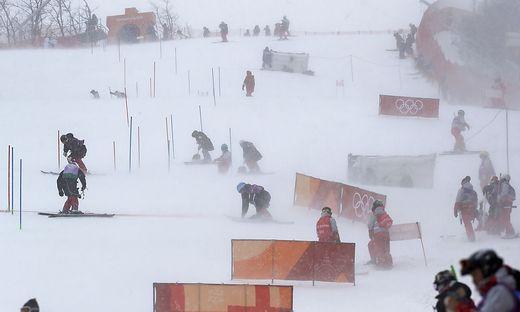 Zu viel Wind: Der Damen-Slalom konnte nicht ausgetragen werden