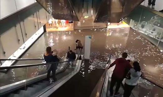 16. April 2018: Der Citypark steht zum Teil unter Wasser
