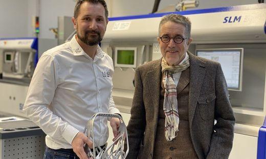 Vom 3D-Druck überzeugt: M&H-Chef Patrick Herzig mit Heinz Hollerweger