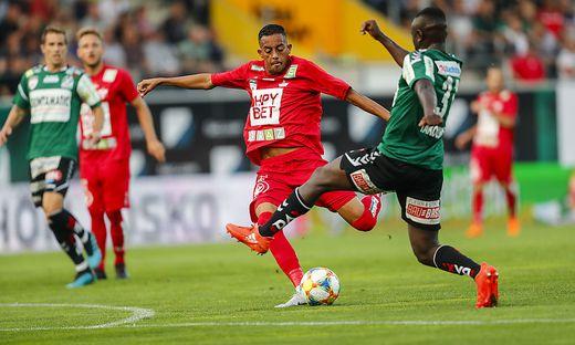Lucas Barbosa erzielte vom Elfmeterpunkt das 2:1 für den GAK