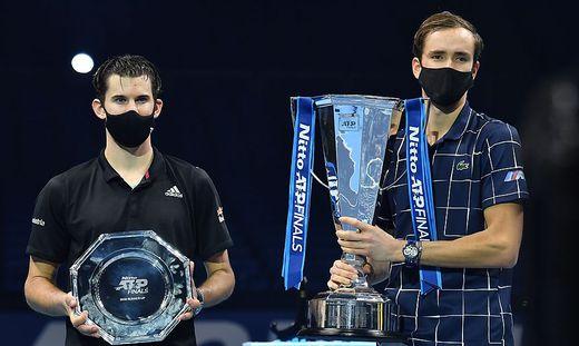 Dominic Thiem (links) und Daniil Medwedew