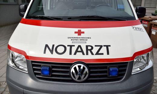 Mit dem Notarzt wurde der Bub ins LKH Graz gebracht