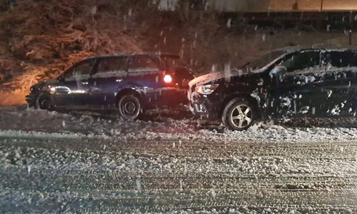 Gleich drei Autos waren am Unfall im Bereich Werk VI beteiligt