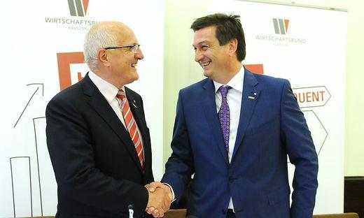 Nach der Übergabe als Wirtschaftskammerpräsident 2015 (Bild) folgt Jürgen Mandl Franz Pacher auch als Wirtschaftsbund-Obmann