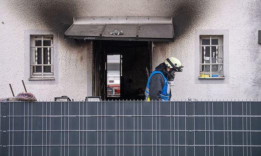 Brand mit fuenf Toten in Nuernberg
