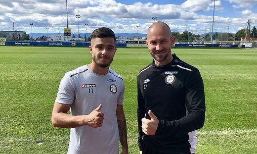 Jusuf Gazibegovic und Sturm-Trainer Christian Ilzer