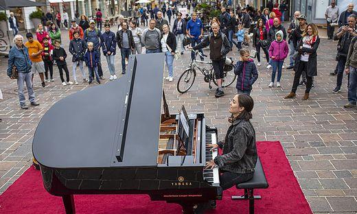 Im vergangenen Jahr stand der Klavierflügel auf dem Alten Platz