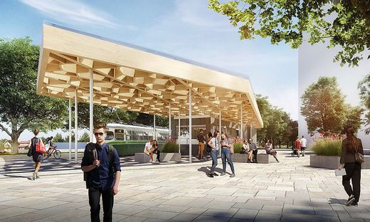 Reinighauspark Pavillon Flugdach