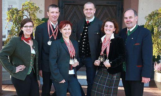 Von links: Kathrin Steiner, Gerhard und Doris Paulitsch, Siegfried Quendler, Jutta Spendier und Anton Heritzer