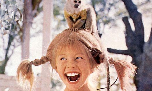Pippi Langstrumpf, 1960Er, 1960S, Affe, Film, Kinderfilm, Pippi Langstrump, South American Monkey, Totenkopfaffe, Aeffchen