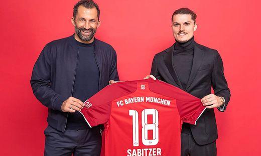 Marcel Sabitzer mit Hasan Salihamidzic