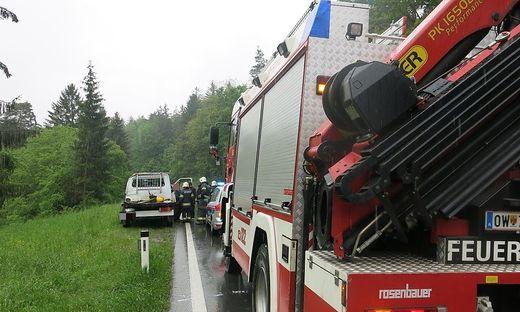 Die Feuerwehr Oberwart rückte mit zehn Mann aus