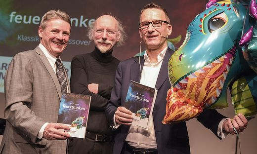 Klemens Fheodoroff, Kirchenoper-Komponist Johannes Kalitzke und Holger Bleck