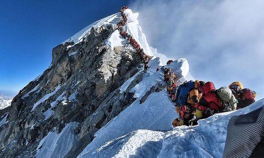 Stau am Mount Everest