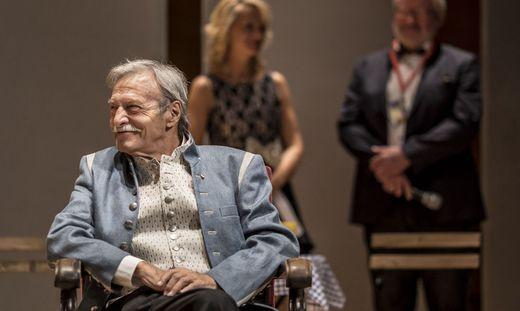 Adi Peichl 2018 bei der Vergabe ds ÖBV Theaterpreises im Stift Ossiach
