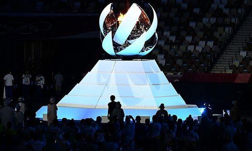 Das Olympische Feuer in Tokio