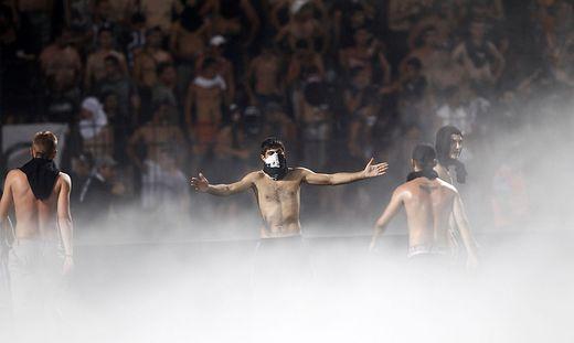FUSSBALL - EL Play Off, PAOK vs Rapid