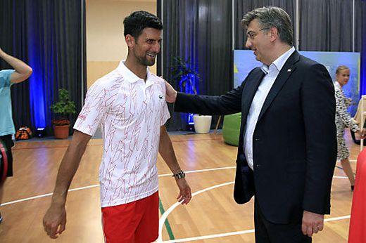 Novak Djokovic und Andrej Plenkovic