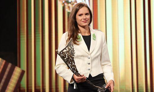 Die strahlende Siegerin: Vanessa Herzog