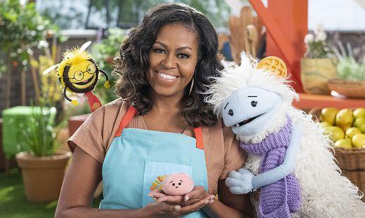 Sympathisches Quartett: Beezy, Michelle Obama, Mochi und Waffles