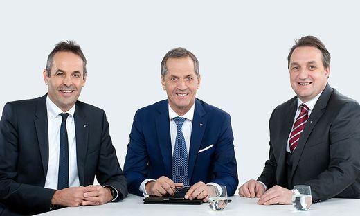 Der Neue im Vorstand Kurt Tschemernjak (links), Gerhard Schöffmann und Jürgen Hartinger