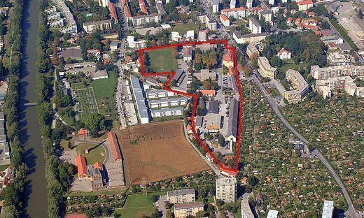Das Areal der Kirchner Kaserne
