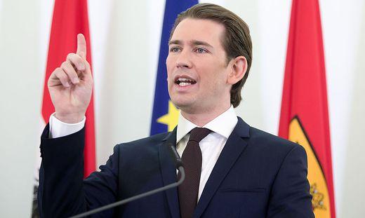 Bundeskanzler Kurz kritisiert die Pläne der USA