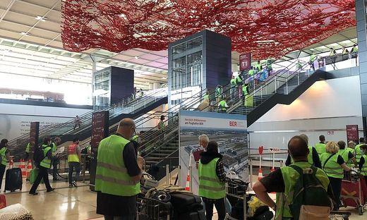 Probebetrieb am Berliner Flughafen BER