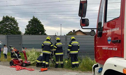 Die Feuerwehr konnte den Mann  aus seiner misslichen Lage befreien