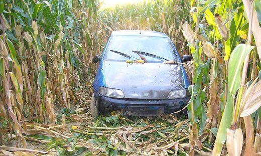 Das Auto wurde beschädigt
