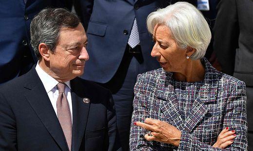 Mario Draghi und Nachfolgerin Christine Lagarde