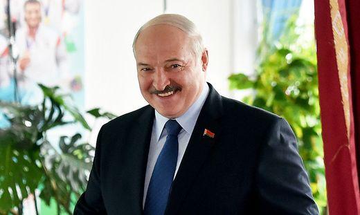 Staatschef Alexander Lukaschenko wurde zum Sieger erklärt