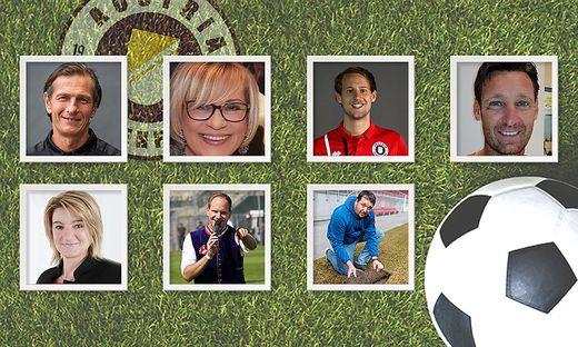 Peter Kostolansky, Johanna Kogler, Fabian Hafner, Mario Proprentner (hinten von links), Luitgard Schaub, Christian Rosenzopf und Andreas Petutschnig (vorne von links)