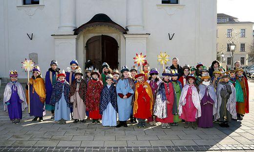 In Fürstenfeld gab es zum Abschluss einen gemeinsamen Dankgottesdienst der Sternsinger