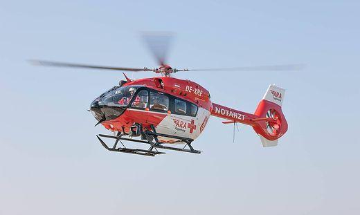 Der schwer verletzte Landwirt wurde vom Rettungshubschrauber RK1 ins UKH Klagenfurt geflogen