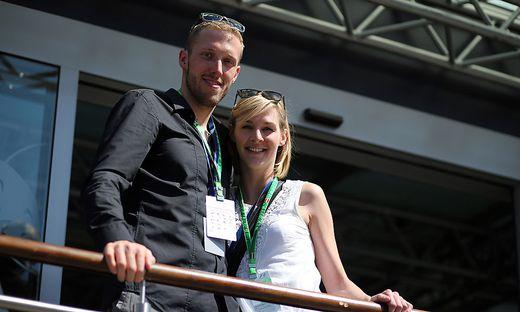 Dominik Landertinger und seine Freundin Marion