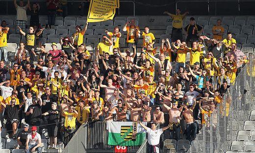 Ein Fan von Dynamo Dresden verletzte sich in Darmstadt schwer