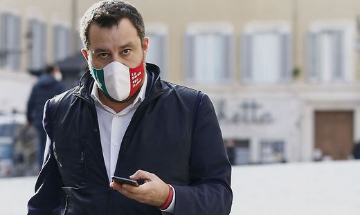 Der Chef der rechten Regierungspartei Lega, Matteo Salvini