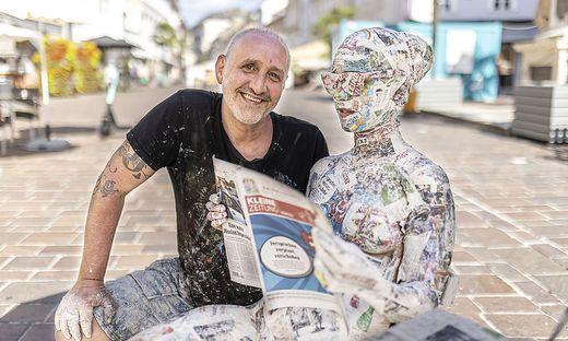 World Bodypainting Festival Kleine Zeitung Installation von Filippo Ioco Klagenfurt Juli 2021