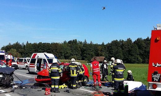 Frontalkollision in Hollenegg