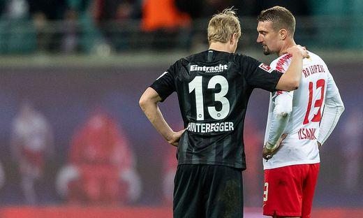 Jetzt auch in Frankfurt Teamkollegen: Martin Hinteregger und Stefan Ilsanker