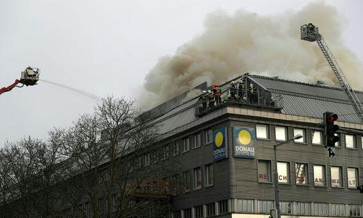 Feuerwehr Großeinsatz Brand In Donauzentrum In Wien