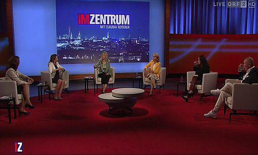 """In der ORF-Sendung """"Im Zentrum"""" wurde am Sonntag das Thema """"Gewaltschutz für Frauen"""" diskutiert"""