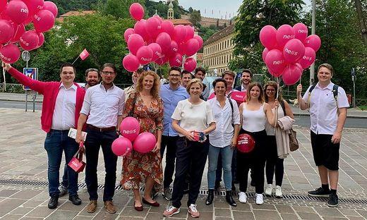 Neos auf Wahlkampftour in der steirischen Landeshauptstadt