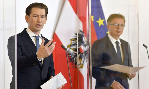 Sprechen noch nicht mit einer Zunge: Kanzler Sebastian Kurz und Minister Rudolf Anschober