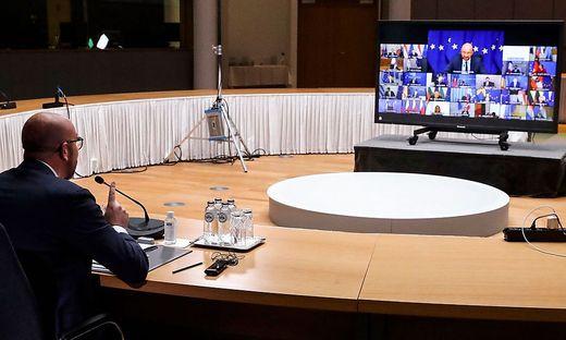 Ratspräsident Charles Michel: Präsenztreffen wären allemal besser als Video